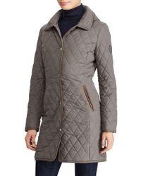 Lauren by Ralph Lauren - Quilted Hooded Jacket - Lyst