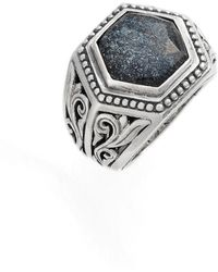 Konstantino - Santorini Hematite Hexagon Ring - Lyst