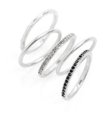 Madewell - Filament Set Of 5 Stacking Rings - Lyst