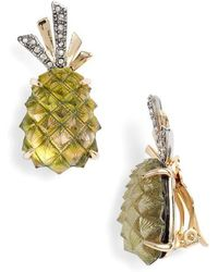 Alexis Bittar - Lucite Pineapple Earrings - Lyst