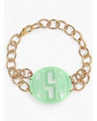Moon & Lola - 'annabel' Medium Personalized Monogram Bracelet - Lyst