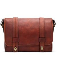 Bosca - Leather Messenger Bag - Lyst