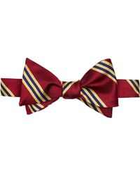 Brooks Brothers - Silk Stripe Bow Tie - Lyst