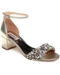 Badgley Mischka - Vega Ii Metallic Sandal - Lyst
