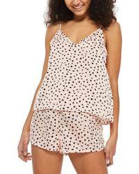 TOPSHOP - Irregular Spot Short Pajamas - Lyst