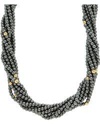Lagos - Caviar Icon Hematite Necklace - Lyst