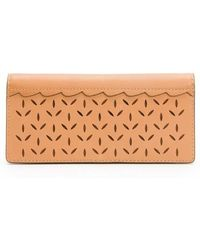 Frye | Ilana Perforated Slim Leather Wallet | Lyst