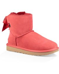 UGG - Ugg Customizable Bailey Bow Mini Genuine Shearling Bootie - Lyst