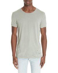 Ksubi - Sioux Distressed T-shirt - Lyst