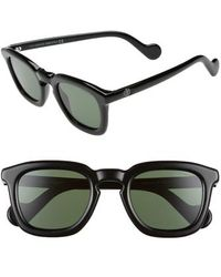 4943a734776 Lyst - Moncler Mr. 50mm Square Sunglasses in Brown for Men