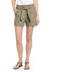 Caslon - Caslon Belted Twill Shorts - Lyst