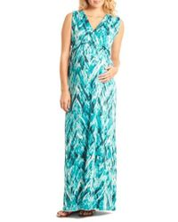 Everly Grey - 'jill' Maternity Maxi Dress - Lyst