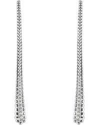 Lagos - Diamond Linear Earrings - Lyst
