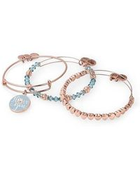 ALEX AND ANI - I Love You Set Of 3 Adjustable Wire Bangles - Lyst