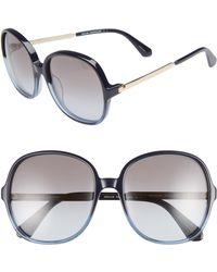 Kate Spade - Adriyanna 60mm Round Sunglasses - - Lyst
