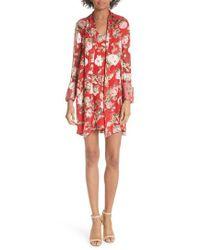 Alice + Olivia - Gwenda Floral Paneled Tunic Dress - Lyst