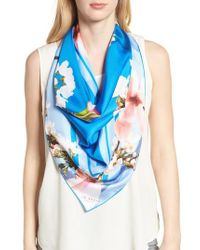 Ted Baker - Harmony Square Silk Scarf - Lyst