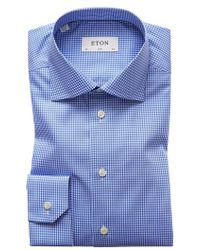 Eton of Sweden - Extra Slim Fit Check Dress Shirt - Lyst