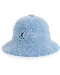 d293dd4de Kangol Stripe Casual Bucket Hat in Blue - Lyst