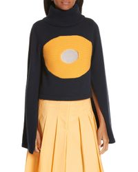 Ji Oh - Crop Turtleneck Sweater - Lyst