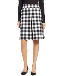 Nordstrom - 1901 Check A-line Skirt - Lyst