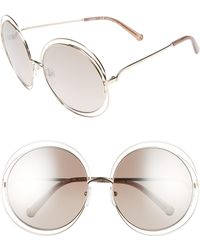 Chloé - 62mm OverGold/ Clear Brown - Lyst