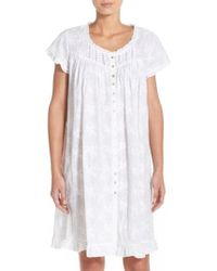 Eileen West - Embroidered Cotton Robe - Lyst