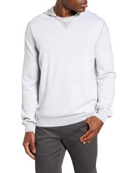 Bugatchi Hooded Pullover Sweater - White