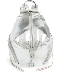 Rebecca Minkoff - Julian Nylon Backpack - Metallic - Lyst