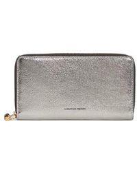 Alexander McQueen - Metallic Leather Continental Wallet - Metallic - Lyst