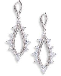 Jenny Packham - Imitation Pearl Drop Earrings - Lyst