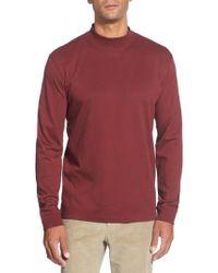 Cutter & Buck - 'belfair' Long Sleeve Mock Neck Pima Cotton T-shirt - Lyst