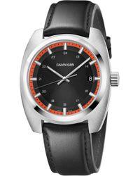 Calvin Klein - Achieve Leather Band Watch - Lyst