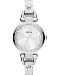 Fossil - 'small Georgia' Round Dial Bangle Watch - Lyst