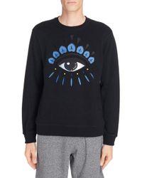 KENZO - Embroidered Eye Sweatshirt - Lyst