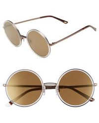 Web - 52mm Sunglasses - Crystal/ Brown Mirror - Lyst