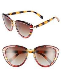 Privé Revaux - The Monet 56mm Striped Cat Eye Sunglasses - Lyst