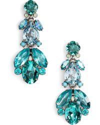 Sorrelli Pine Crystal Drop Earrings - Blue