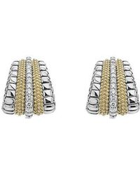 Lagos - Diamond Lux Graduated Stud Earrings - Lyst
