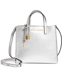 Marc Jacobs - Mini The Grind Metallic Leather Tote - - Lyst