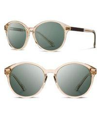 Shwood | 'bailey' 53mm Polarized Sunglasses - Champagne/ Ebony/ G15 Polar | Lyst
