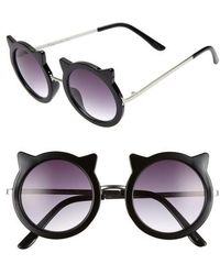 Circus by Sam Edelman - 48mm Round Cat Sunglasses - - Lyst
