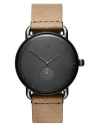 MVMT - Revolver Vice Leather Strap Watch - Lyst