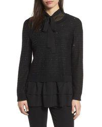 Ming Wang - Ruffle Tunic Sweater - Lyst