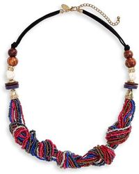 Natasha Couture - Beaded Knot Statement Necklace - Lyst