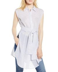 Kenneth Cole - Stripe Tunic Shirt - Lyst