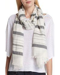 Eileen Fisher - Stripe Organic Cotton & Linen Scarf - Lyst