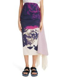 Dries Van Noten - Savin Floral Print Asymmetrical Skirt - Lyst