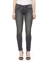 PAIGE - Transcend Verdugo Ankle Ultra Skinny Jeans - Lyst
