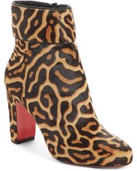 1390fd0a596c Lyst - Christian Louboutin Moulamax Velvet Ankle Boots in Blue